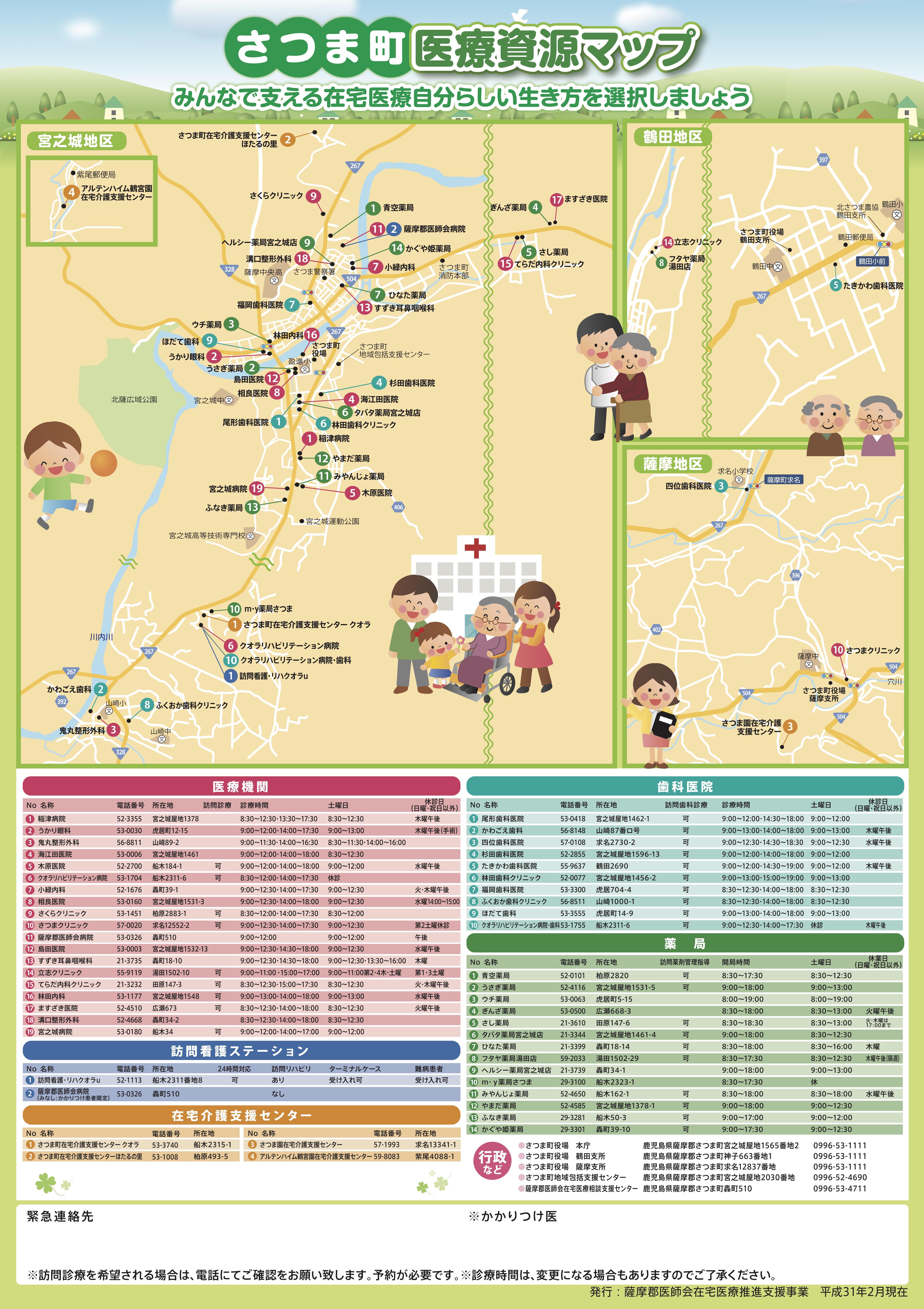 さつま町医療資源マップ